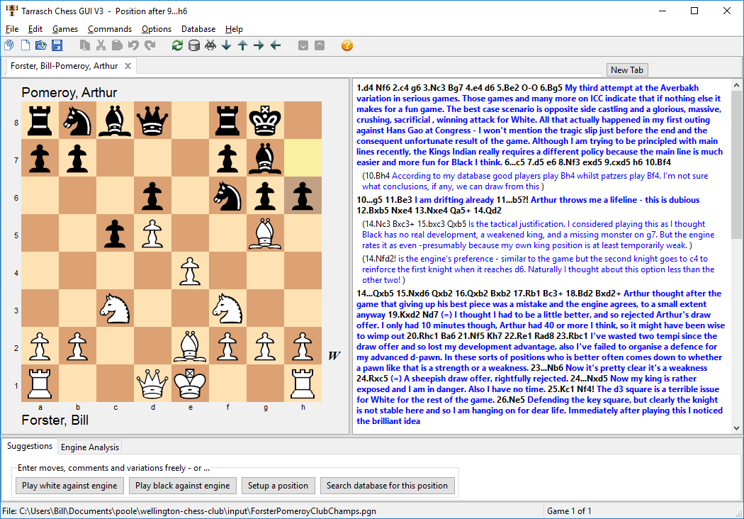 The Tarrasch Chess GUI